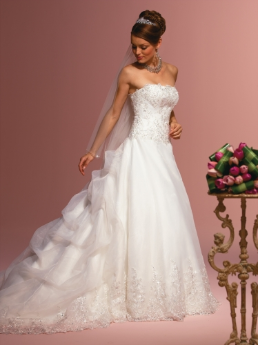 Organza over Satin Wedding Dress
