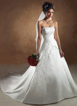 Satin Princess Style Bridal Gown