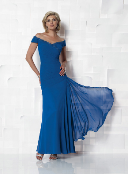 Elegant Off-the-Shoulder Chiffon Gown