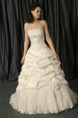 Satin and Lace Princess Style Ballgown