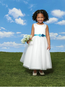 Sweet Satin and Organza Flower Girl Dress