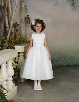 Simple Organza Flower Girl Dress