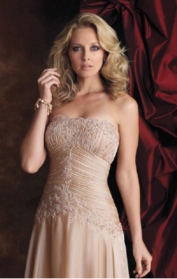 Satin Chiffon and Lace Mother of the Bride Dress