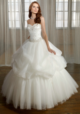 Satin and Organza Wedding Ball Gown