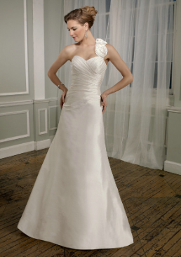 Satin and Taffeta A-Line Wedding Gown