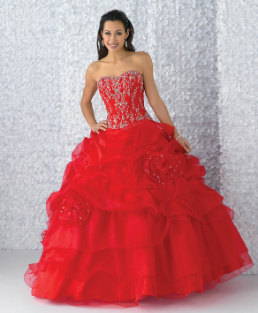 Satin Quinceanera Gown with Beading