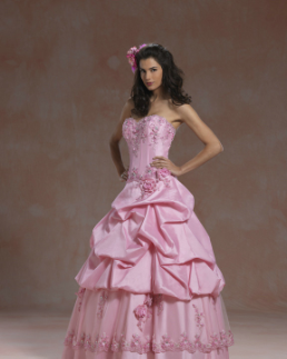 Satin and Tulle Quinceanera Gown