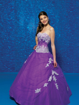 Tulle and Satin Quinceanera Gown