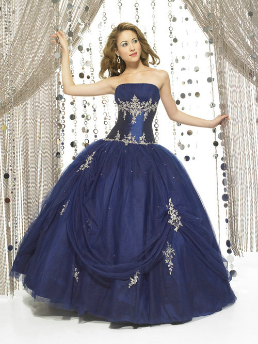Satin and Tulle Quinceanera Ballgown
