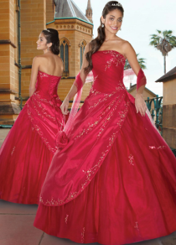 Beautiful Organza Quinceanera Ballgown