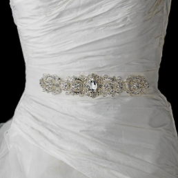 Rhinestone Crystal Wedding Belt