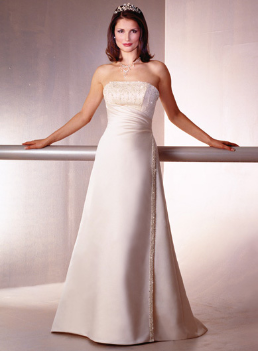Classic Strapless Satin Gown