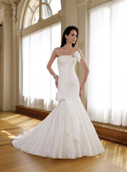 Strapless Elegant Mermaid Style Wedding Dress