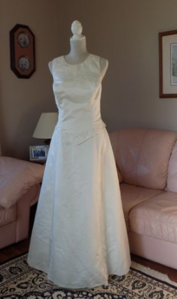 Sleeveless Embroidered Bridal Originals Gown for rent - size 16