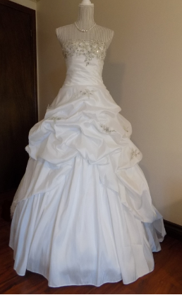 Exquisite Taffeta Princess Style Ballgown for rent - size 6