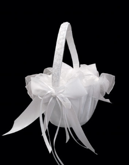 Ribbons and Bows Bridal Flower Girl Basket