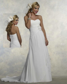 Empire Line Chiffon Wedding Gown