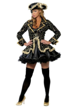 Deluxe Black and Gold Pirate Costume