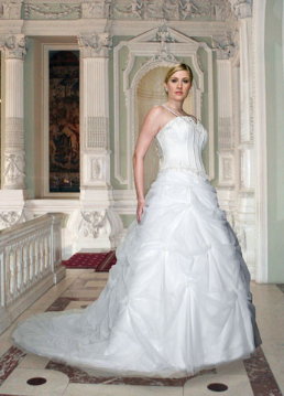 Plus Size Organza over Satin Wedding Ballgown
