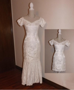 Pre-owned Fit and Flare Gown in stock size 6
