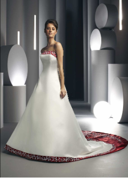 Princess Strapless Satin Wedding Dress