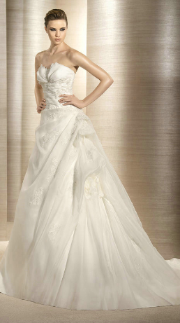 Satin and Organza Wedding Dress