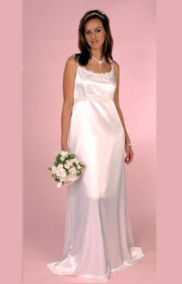 Sweet and Affordable Satin Maternity Wedding Gown