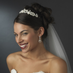Victoria Freshwater Pearl and Crystal Bridal Headpiece