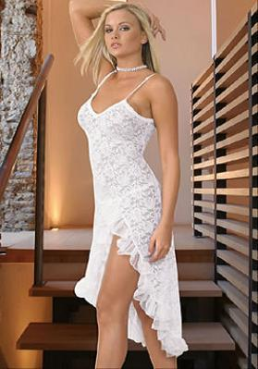 White Lace Long Gown