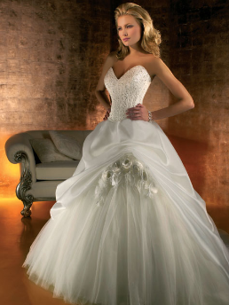 Strapless Tulle Wedding Dress