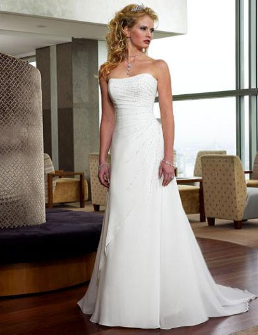 Empire Line Chiffon Wedding Dress