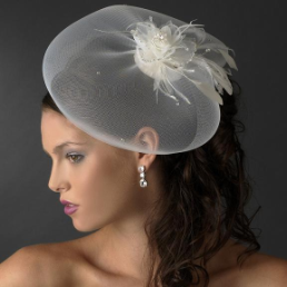Feather and Tulle Bridal Hat