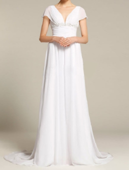 Satin and Chiffon Bridal Gown