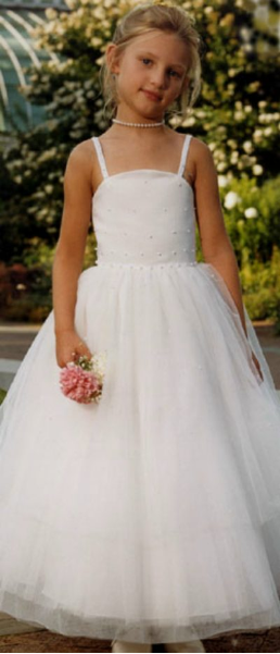 Satin with Tulle Flower Girl Dress