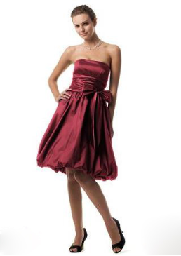 Strapless Taffeta Bubble Bridesmaid Dress