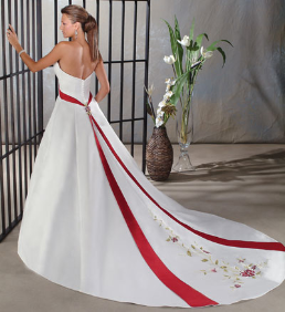 Lovely A-Line Strapless Satin