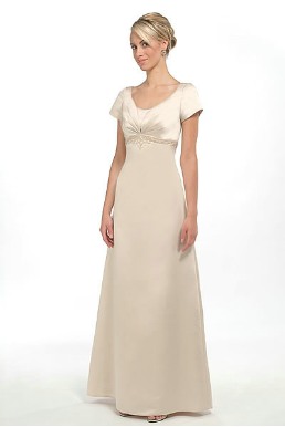 Empire Line Satin Mother of the Bride Dress