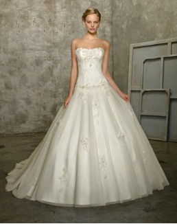 Pretty Ballgown Style Satin and Lace
