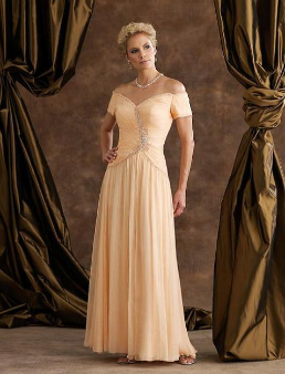 Stylish Satin and Chiffon Mother of the Bride Gown