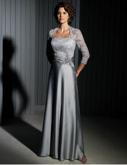 Satin and Lace Mother of the Bride Gown