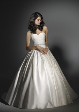 Princess Floor Length Satin Gown