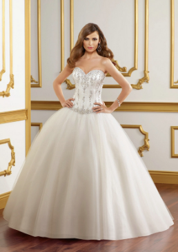 Satin and Tulle Wedding Ballgown