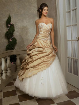 Taffeta and Organza Quinceanera Gown