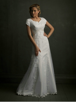 Modest Satin Bridal Gown