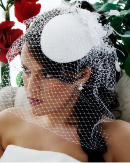 Stylish Hat with Veil