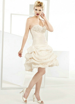Pick-up Style Short Taffeta Dress