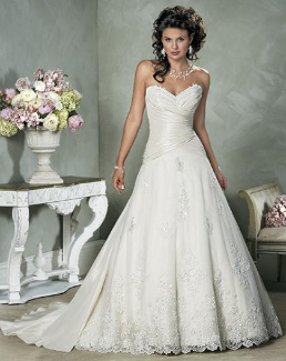 Princess Style Strapless Sweetheart Neckline