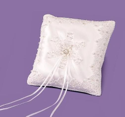 Rhinestone Ring Bearer Bridal Pillow