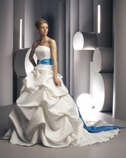 Satin Pick-up Ballgown