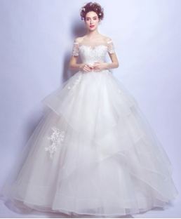 Satin and Organza Southern Belle Ball gown